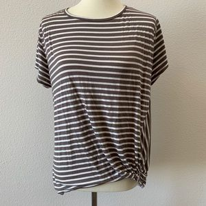 Ginger G Striped Top Brown Striped Top Size L